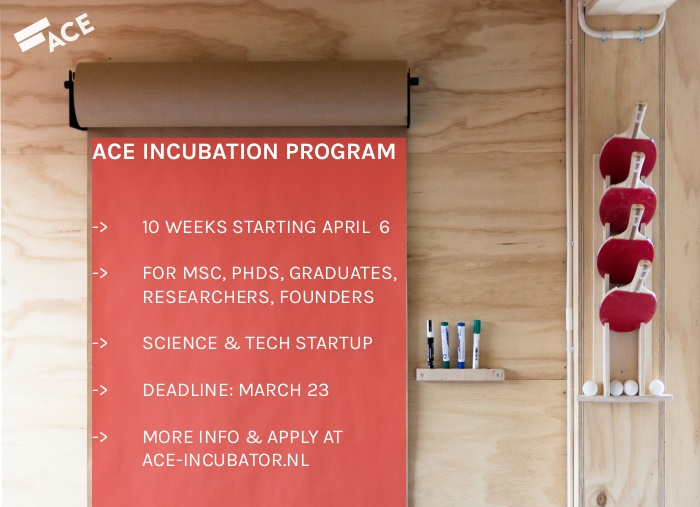 apply now for the ACE Incubation Program