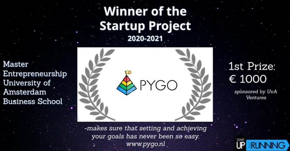 Pygo win the Pitch Finals of the Startup Project at the University of Amsterdam – Amsterdam Business School